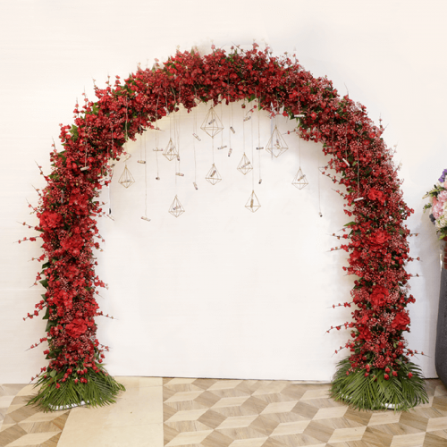 Floral Arch - Red