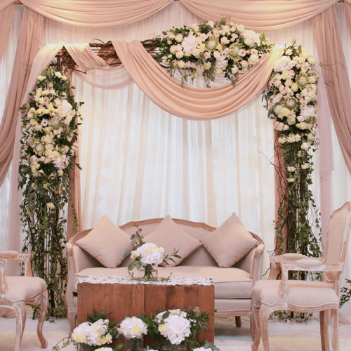 Floral Arch White