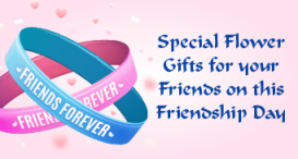 Special Flower Gifts for your friends on this Friendship Day